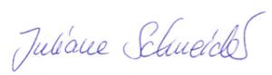Signatur Schneider weiß